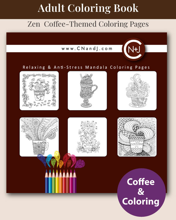 The Adult Coloring Book for Coffee Lovers Back Cover
