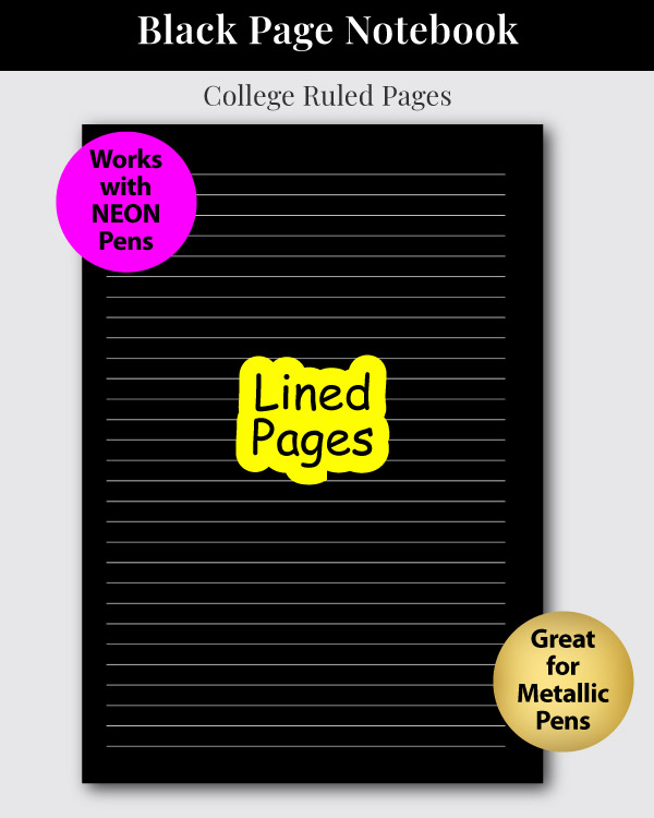 Black Page Notebook Sample