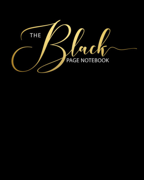 Black Page Notebook Cover