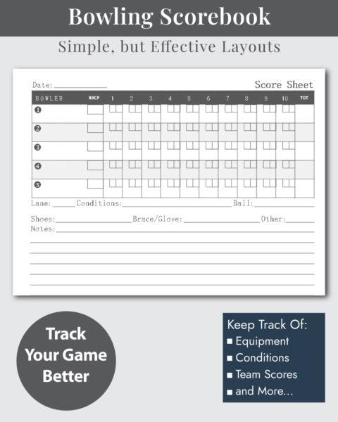 Bowling Scorekeeper Sheets