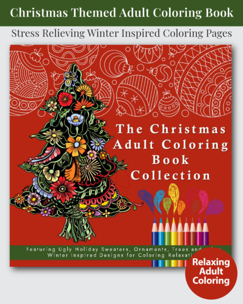 The Christmas Adult Coloring Book Collection Cover