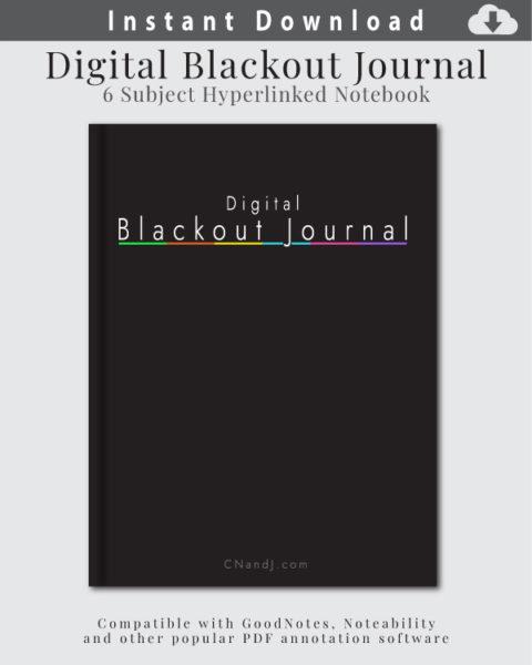 Digital Blackout Journal Cover