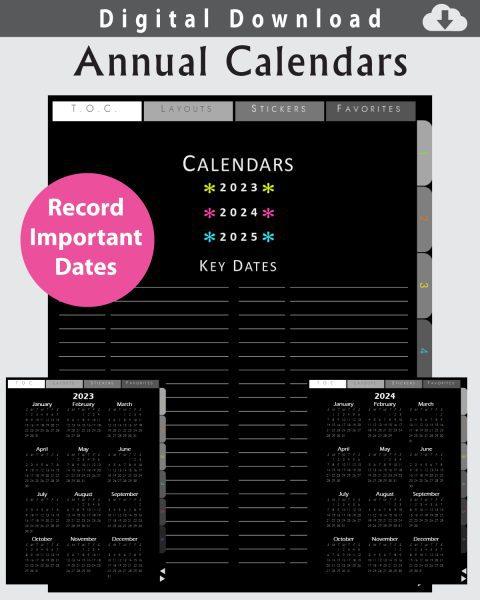 Digital Calendars for Planning