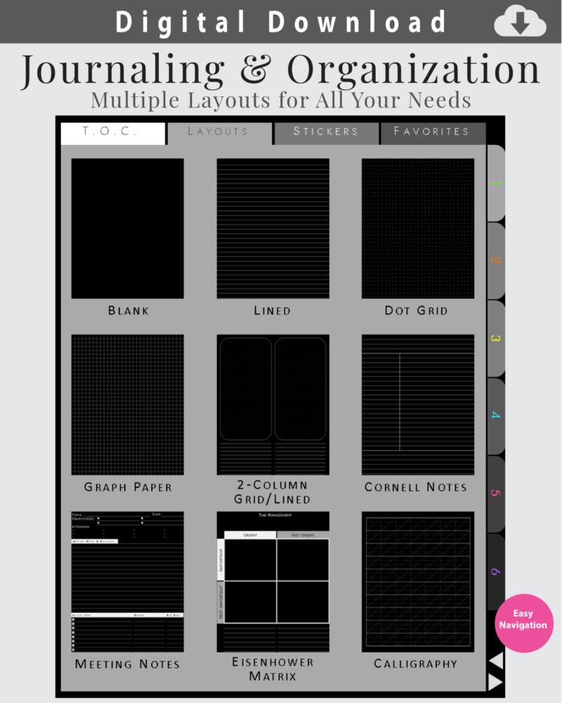 Digital-Blackout-Journal-Layouts