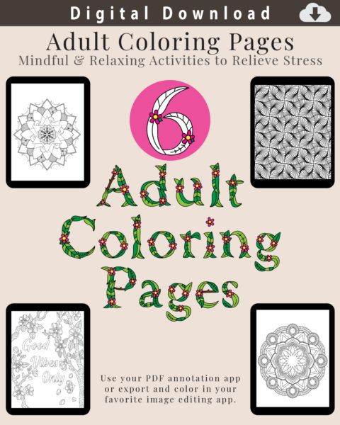 Digital Adult Coloring Pages