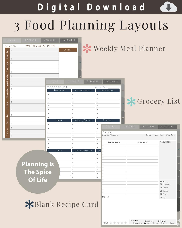 Digital-Journal-Food-Planners