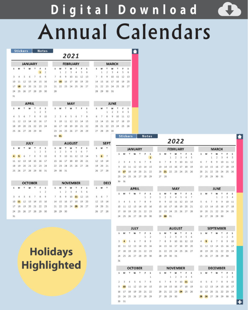 Digital-Planner-Undated-Calendars