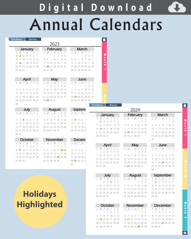 Digital-Planner-Undated-Calendars