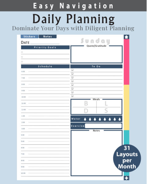 Digital Daily Planning Pages