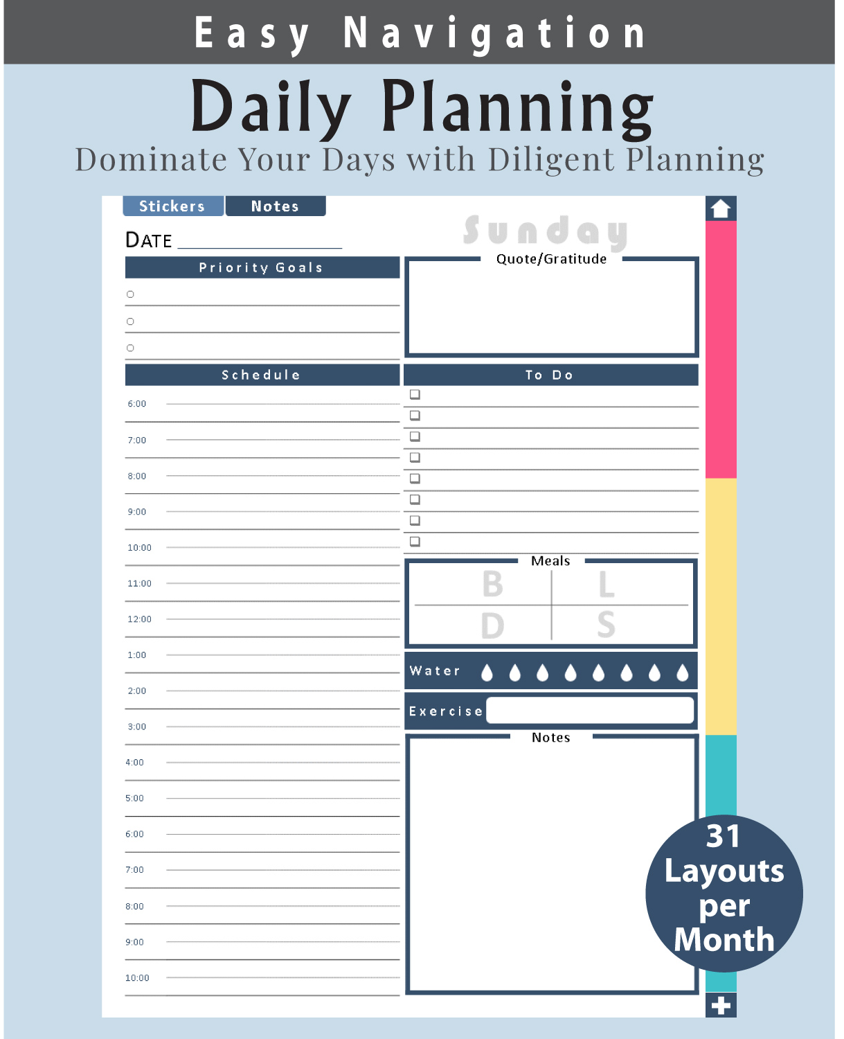 Digital-Planner-Undated-Daily-Layout