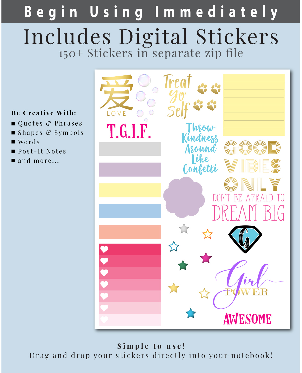 Digital-Planner-Undated-Stickers
