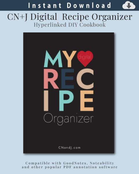 Digital Recipe Organizer Cover