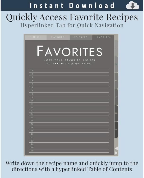 Digital-Recipe-Organizer-FavoritesPage