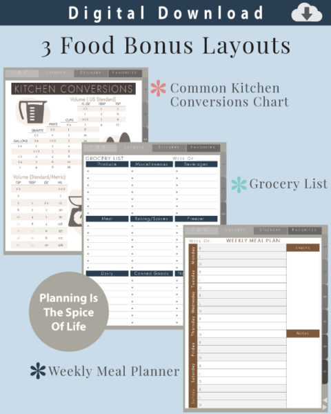 Digital Recipe Organizer Food Planners
