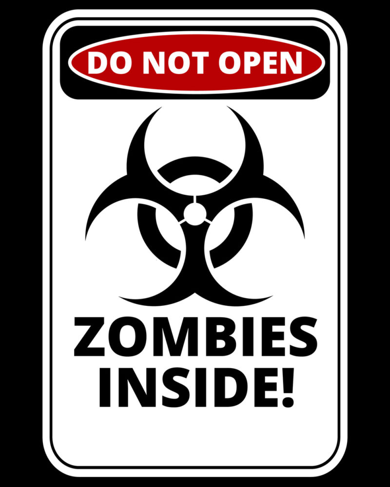 Do Not Open - Zombies Inside Notebook Cover