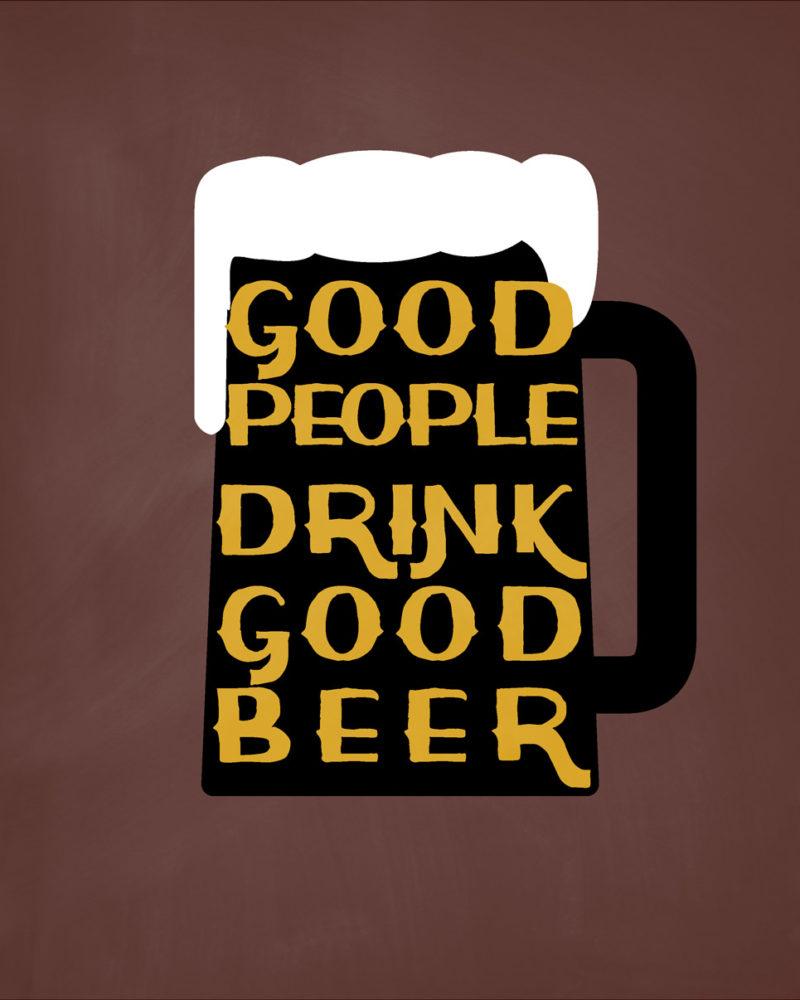 Good-People-Drink-Good-Beer-Notebook-Brown