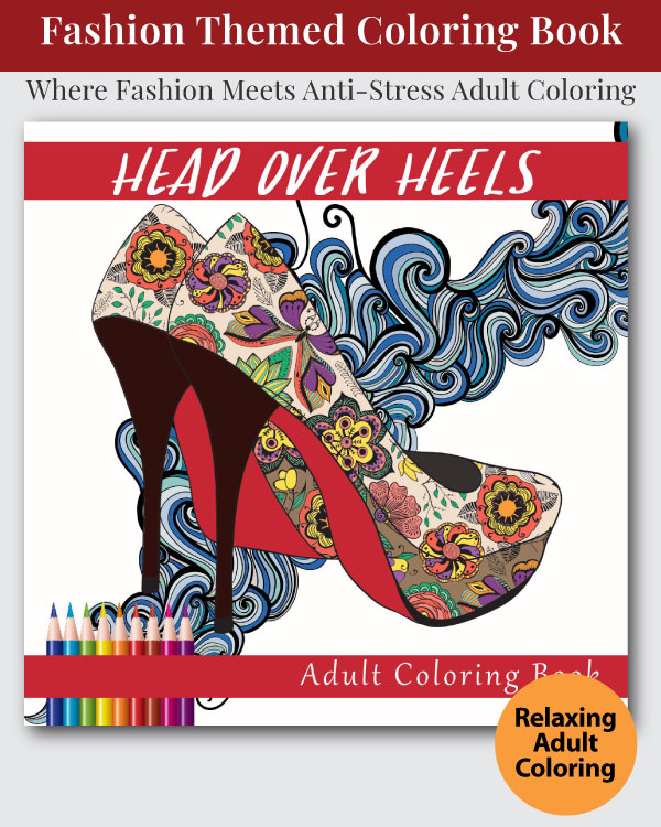 Head Over Heals Adult Coloring Book