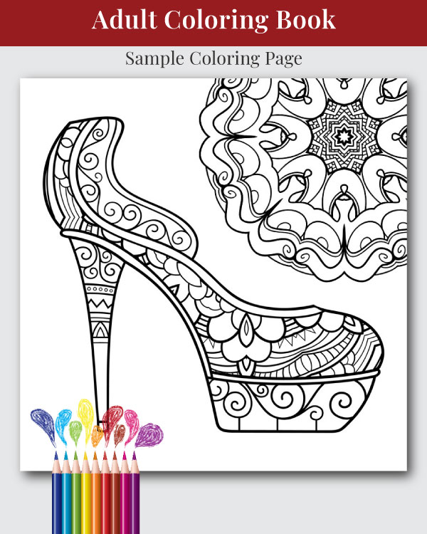 Head Over Heals Adult Coloring Book Sample Coloring Page
