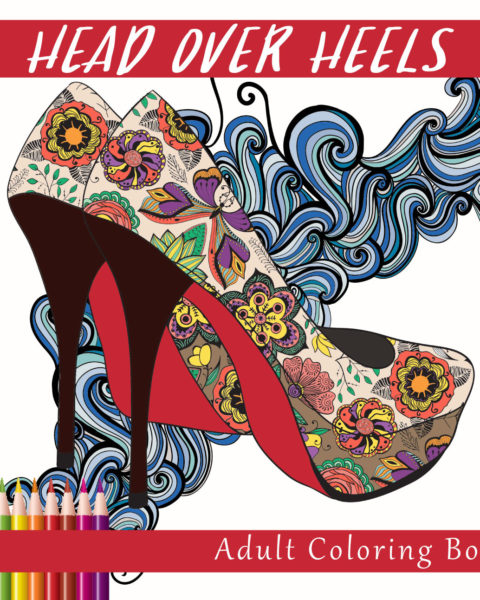 Head Over Heals Adult Coloring Book Cover