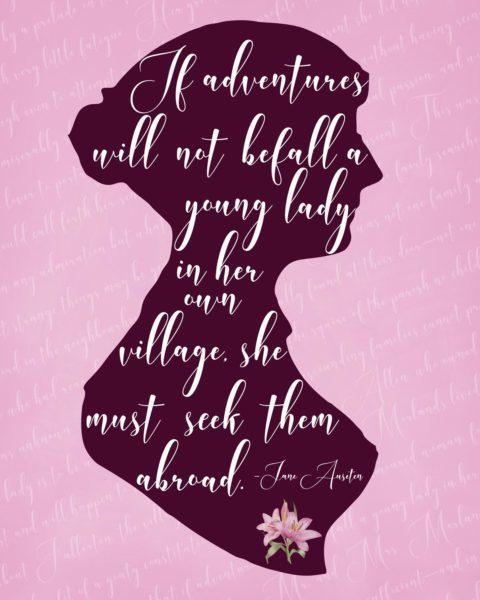 Jane Austen Themed Journal - Cover