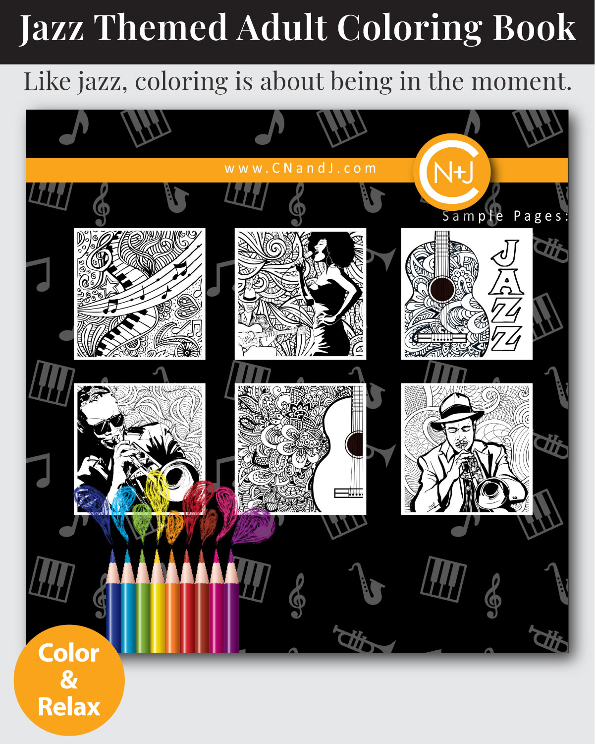 Jazz-Experience-Coloring-Book-Cover-Back
