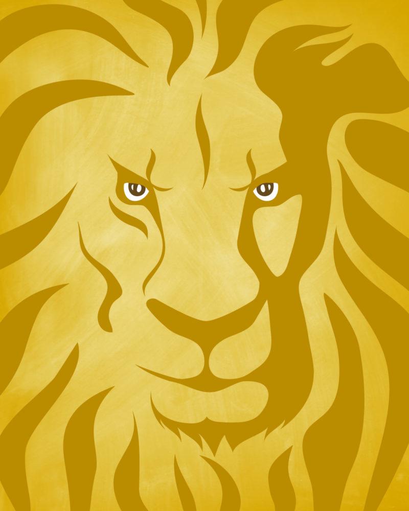 Lion-Printable-8x10