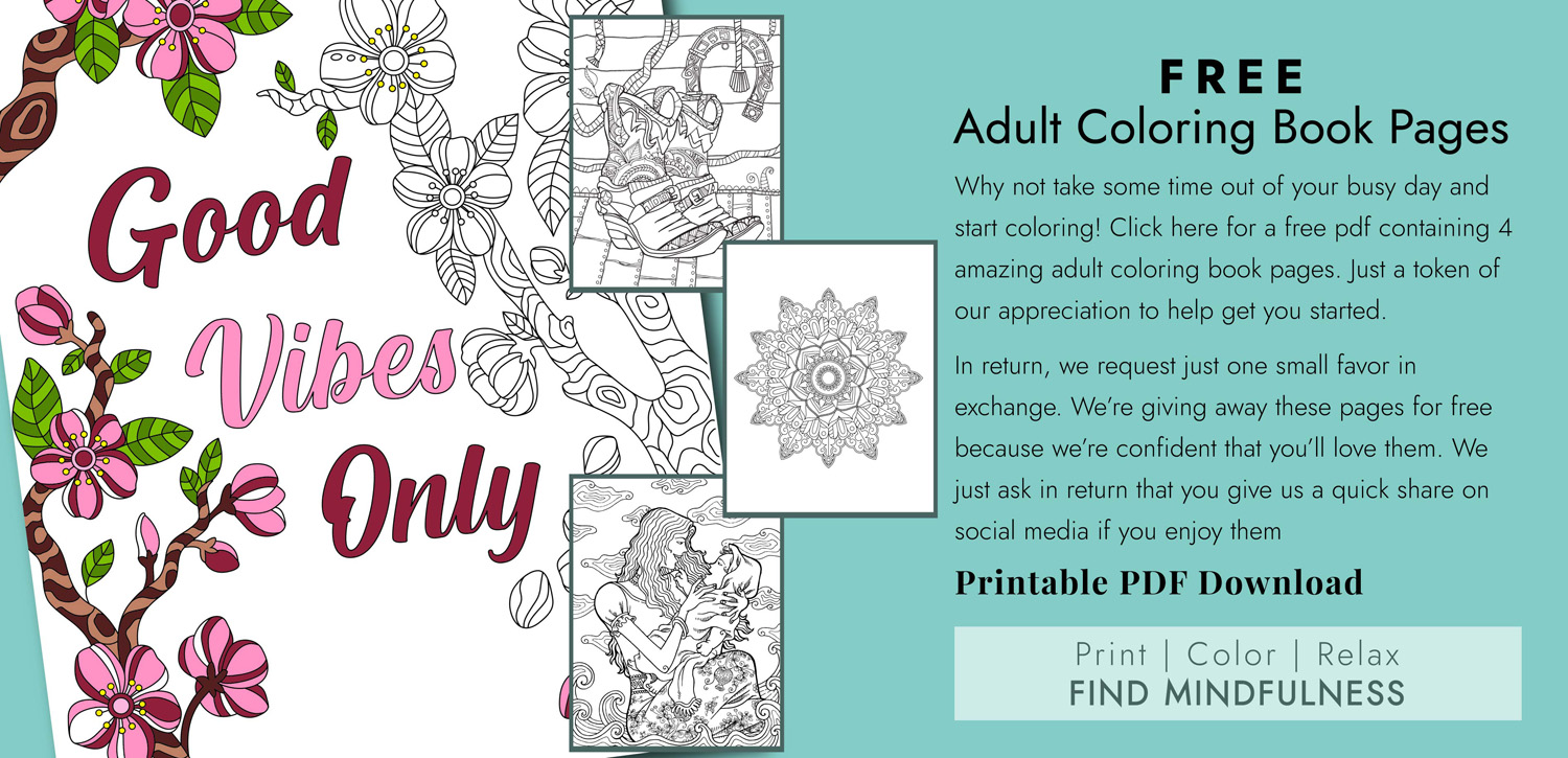 Free Adult Coloring Pages PDF Download Offer