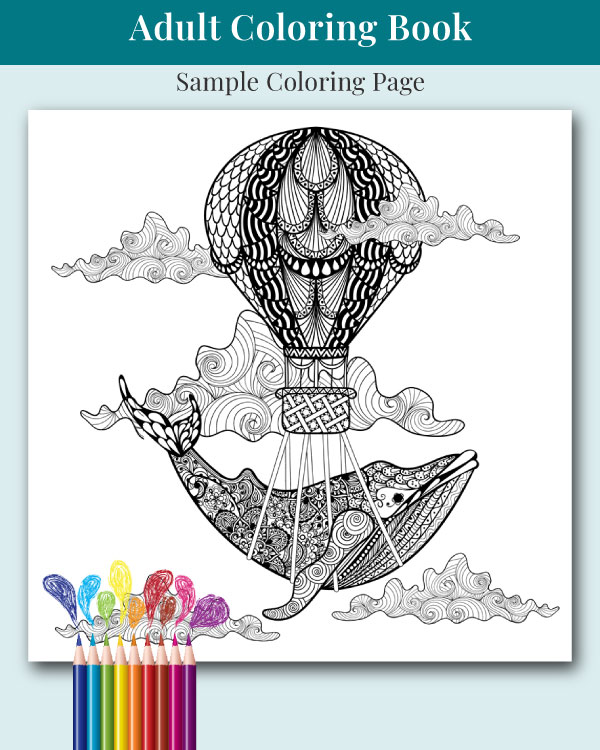 Mandalas and More Adult Coloring Book Sample Image 1