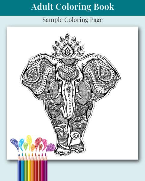 Mandalas and More Adult Coloring Book Sample Image