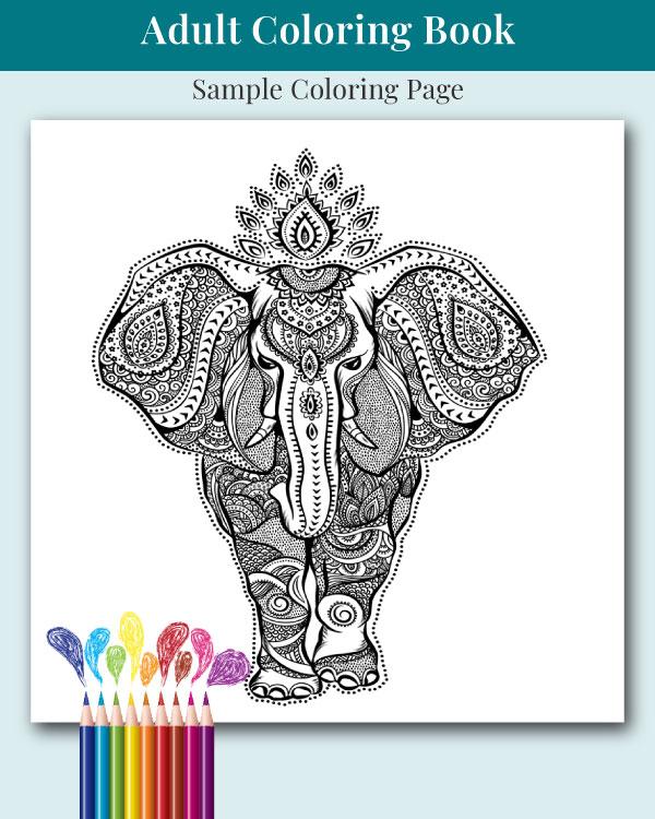 Mandalas and More Adult Coloring Book Sample Image 4
