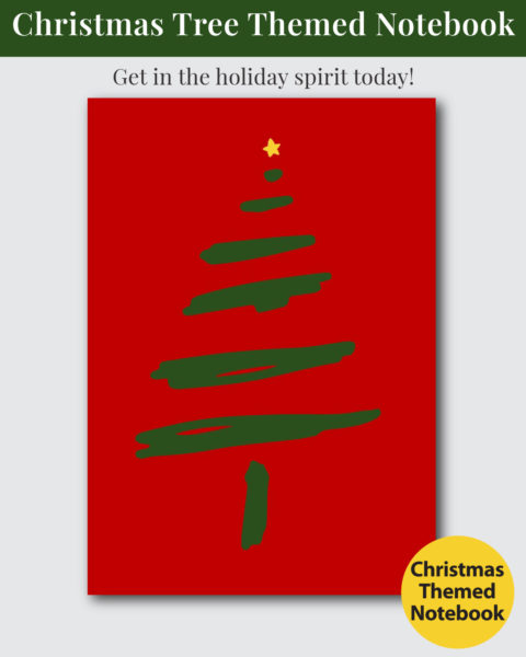 Christmas Tree Themed Notebook Cover