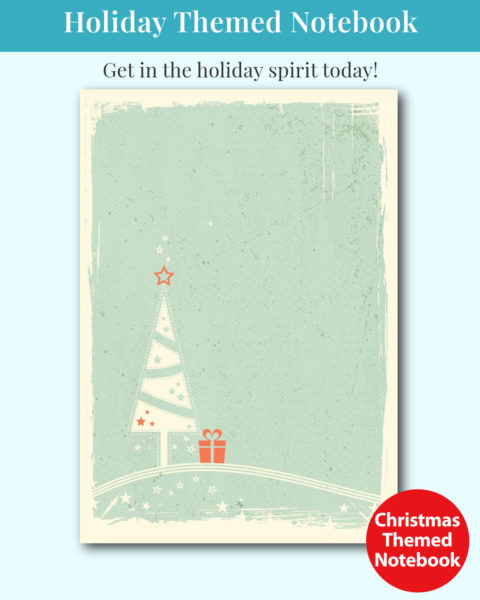 Christmas Holiday Themed Notebook Cover