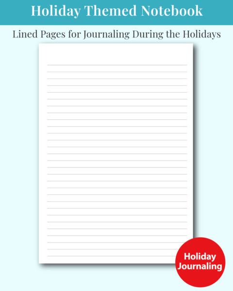 Christmas Holiday Themed Notebook