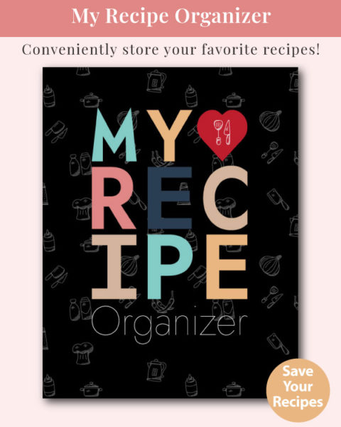 My Recipe Organizer - Blank Recipe Notebook (Black Cover)