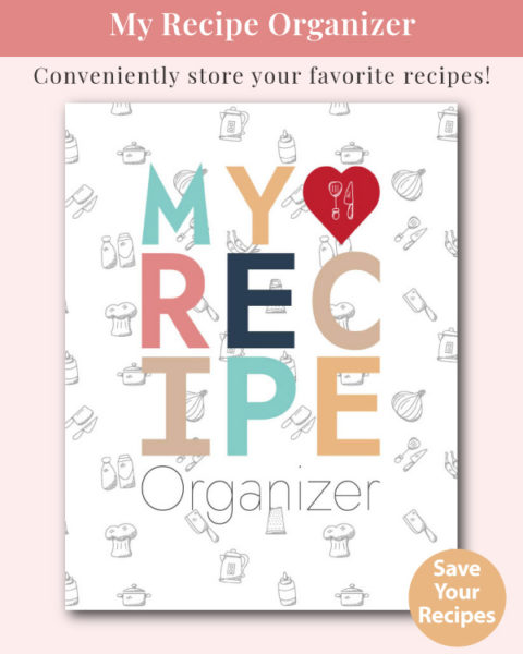 My Recipe Organizer - Blank Recipe Notebook (White Cover)