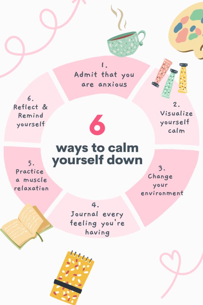 Pink Mental Health Tips Chart