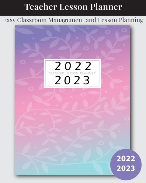 Pink Lavender and Teal Lesson Planner for Teachers