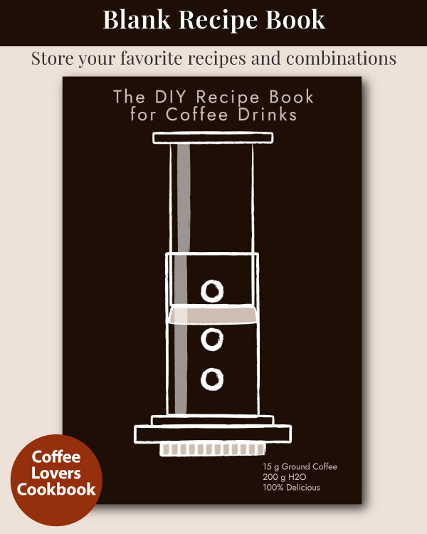 The DIY Recipe Book for Coffee Drinks - Brown