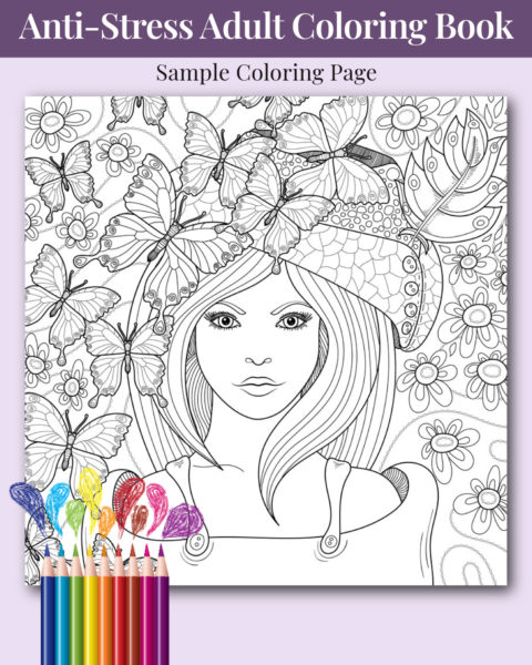 She Believed She Could So She Did Adult Coloring Book Sample Image