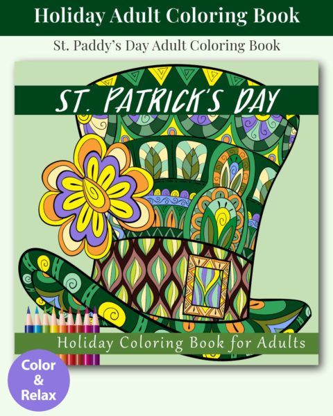 St. Patrick's Day Holiday Adult Coloring Book Cover