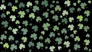 CNandJ.com St. Patrick's Day Zoom Background (Black)