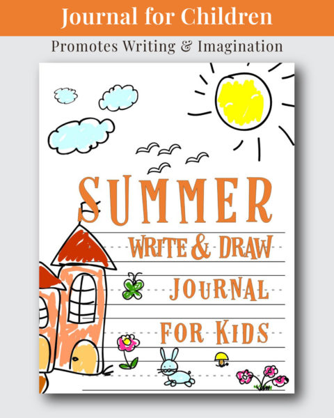 Summer Write and Draw Journal for Kids Cover Design