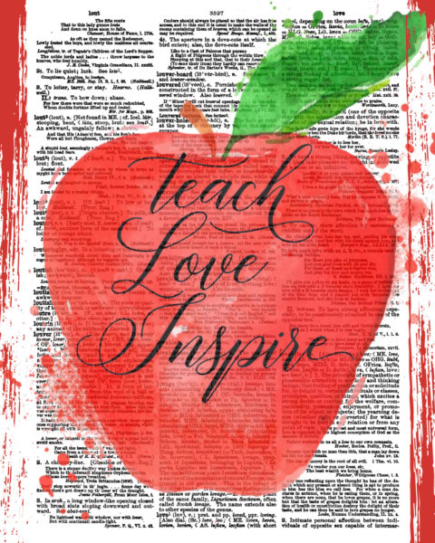 Teach Love Inspire Planner and Notebook Cover