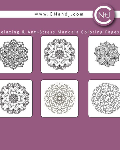 The Mandala Adult Coloring Book Back Cover