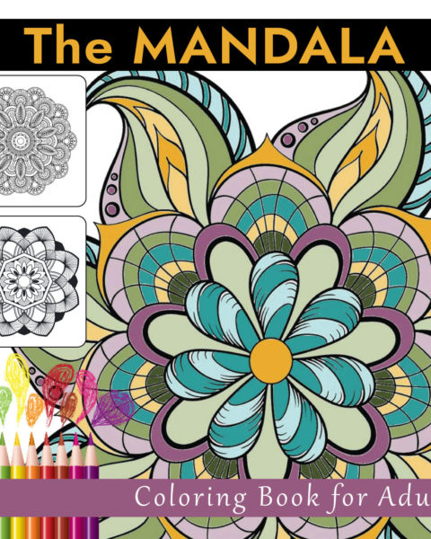 The Mandala Adult Coloring Book Front Cover