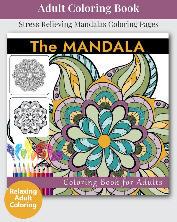 The Mandala Adult Coloring Book