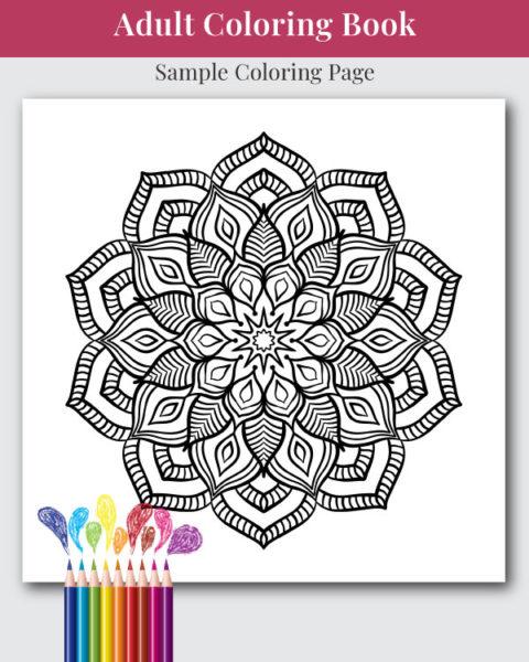 The Mandala Adult Coloring Book Sample Image