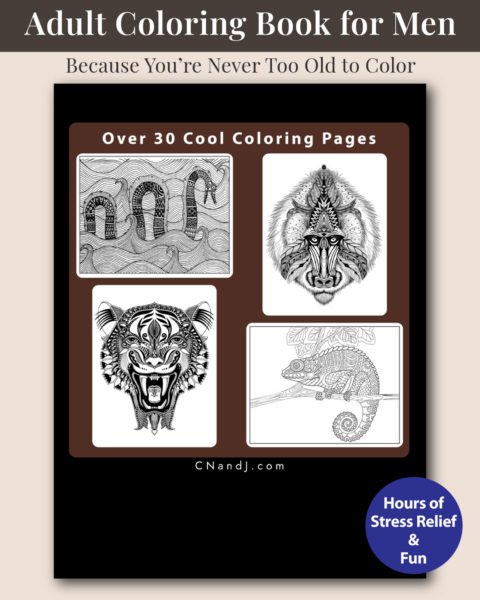 The Ultimate Adult Coloring Book for Men Volume 2 Back Cover