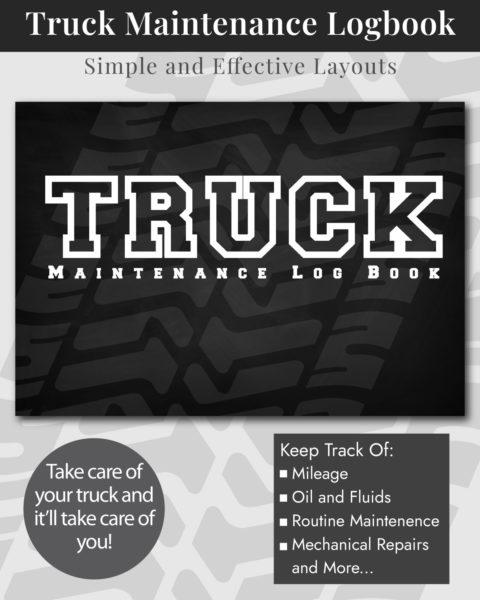 Truck Maintenance Log Book Cover