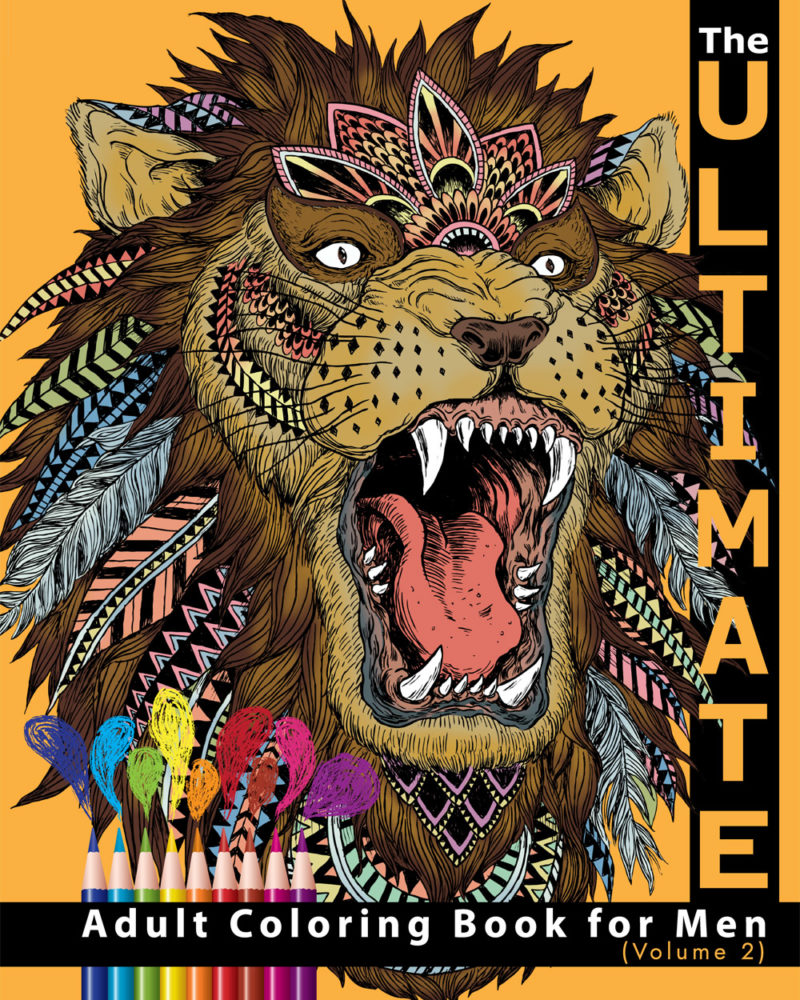 Ultimate-Adult-Coloring-Book-for-Men-Volume-II-Cover